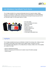 Datasheet H4 wireless hand operator pannel